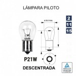 Lámpara 1 Polo P-21 12V 21W Descentrada (BAU15s) 10 UNDS